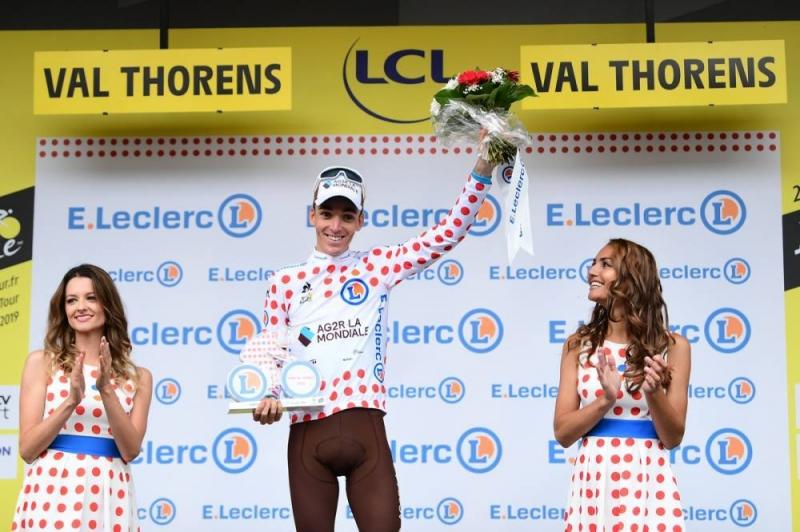 Роман Барде – обладатель гороховой майки Тур де Франс-2019