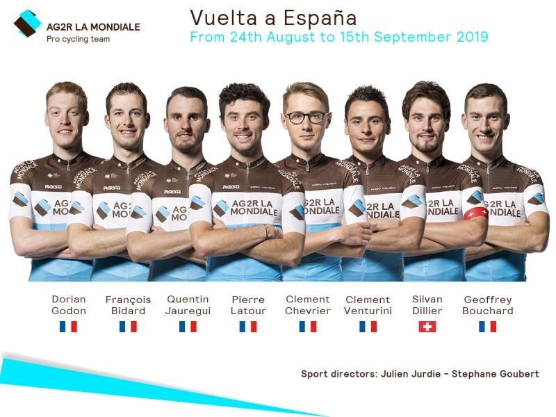 Состав команды AG2R La Mondiale на Вуэльту Испании-2019
