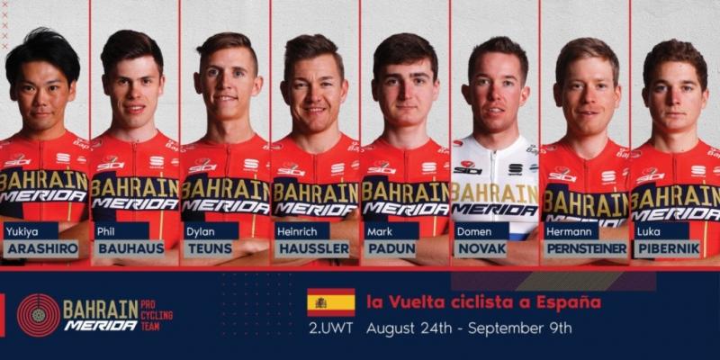 Состав команды Bahrain-Merida на Вуэльту Испании-2019