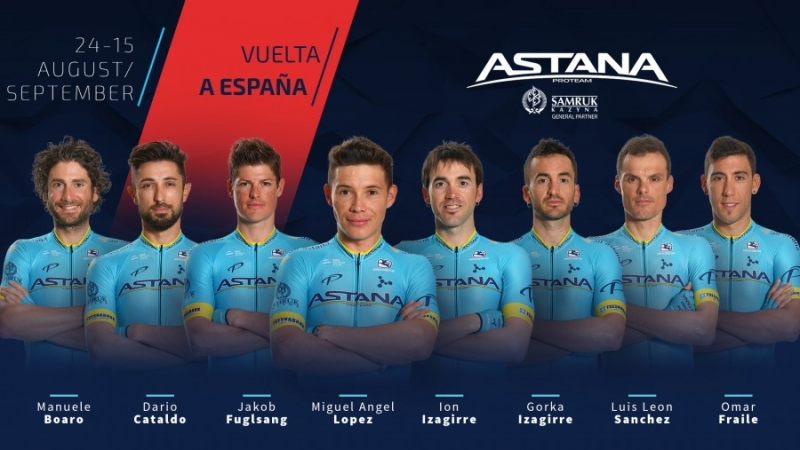 Состав команды Astana на Вуэльту Испании-2019