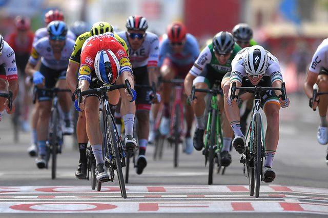 Фабио Якобсен, Сэм Беннетт, Николас Роч о 4-м этапе Вуэльты Испании-2019