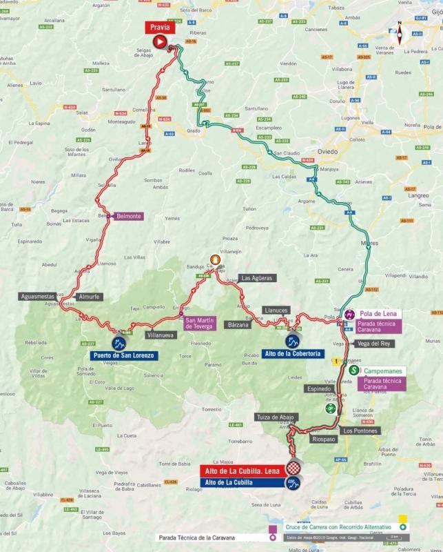 Вуэльта Испании-2019, превью этапов: 16 этап, Правия - Альто де Ла Кубилья. Лена