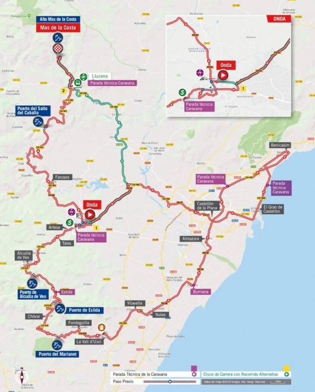 Вуэльта Испании-2019, превью этапов: этап 7, Онда - Мас де ла Коста