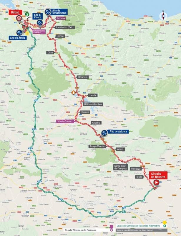 Вуэльта Испании-2019, превью этапов: 12 этап, Автодром Лос-Аркос - Бильбао
