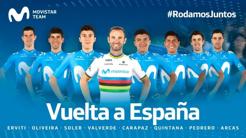 Состав команды Movistar на Вуэльту Испании-2019