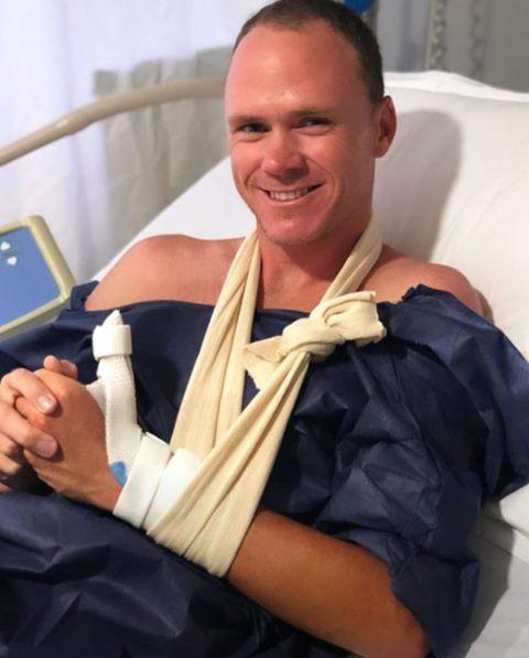 Крис Фрум вернулся в больницу из-за инцидента с кухонным ножом