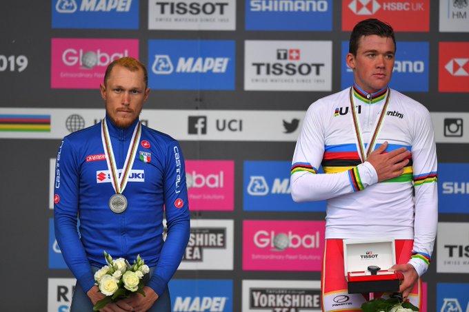 Маттео Трентин – серебряный призёр в групповой гонке чемпионата мира по велоспорту-2019