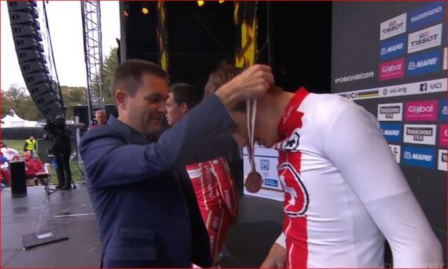 Стефан Кюнг - бронзовый призёр групповой гонки чемпионата мира по велоспорту-2019