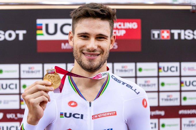 Филиппо Ганна установил два мировых рекорда за день в индивидуальной гонке преследования на треке