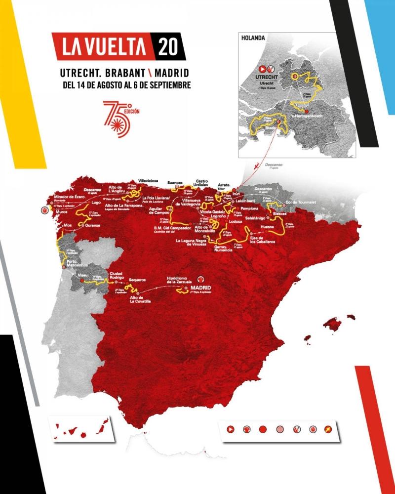 15-й и 16-й этапы Вуэльты Испании-2020 будут изменены