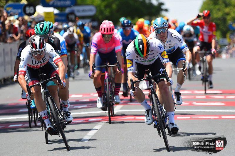 Яспер Филипсен – 2-й на 1 этапе Тура Даун Андер-2020, Александр Рябушенко сошёл с гонки
