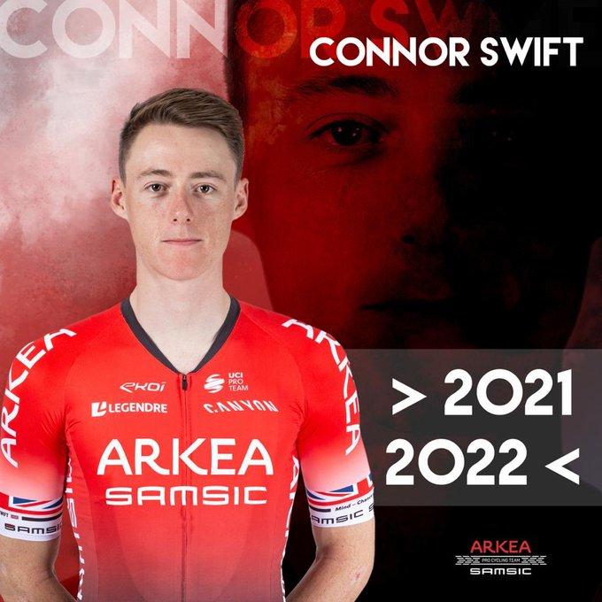 Коннор Свифт продлил контракт с велокомандой Arkea-Samsic