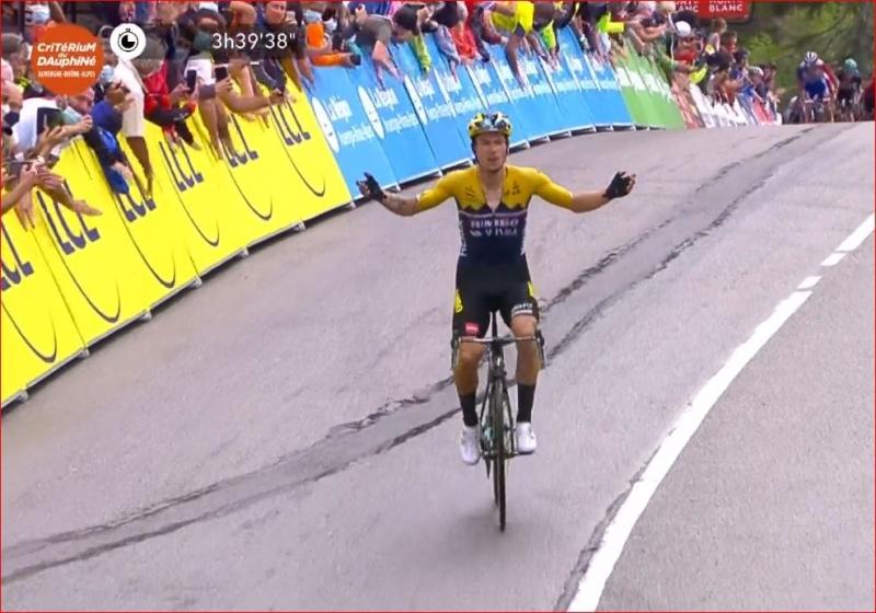 Примож Роглич – победитель 2 этапа Критериума Дофине-2020