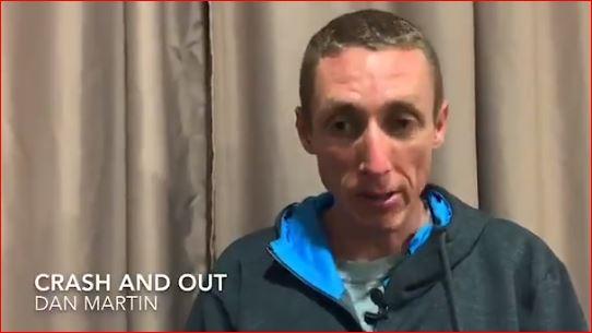 Дэн Мартин сошёл с Критериума Дофине-2020 после падения на 2-м этапе