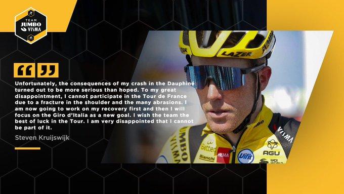 Стевен Крёйсвейк не примет участие в Тур де Франс-2020