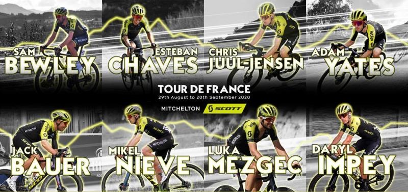 Велокоманда Mitchelton-SCOTT нацелена бороться за этапы на Тур де Франс-2020
