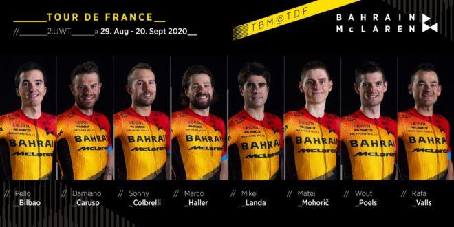 Микель Ланда – капитан команды Bahrain-McLaren на Тур де Франс-2020