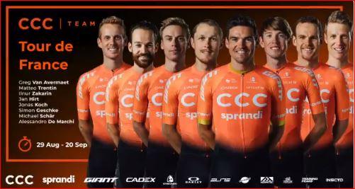 Команда CCC нацелена бороться за этапы на Тур де Франс-2020