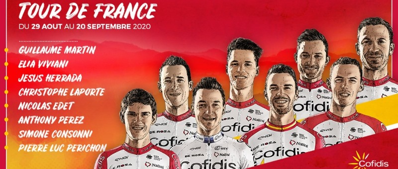 Состав команды Cofidis на Тур де Франс-2020
