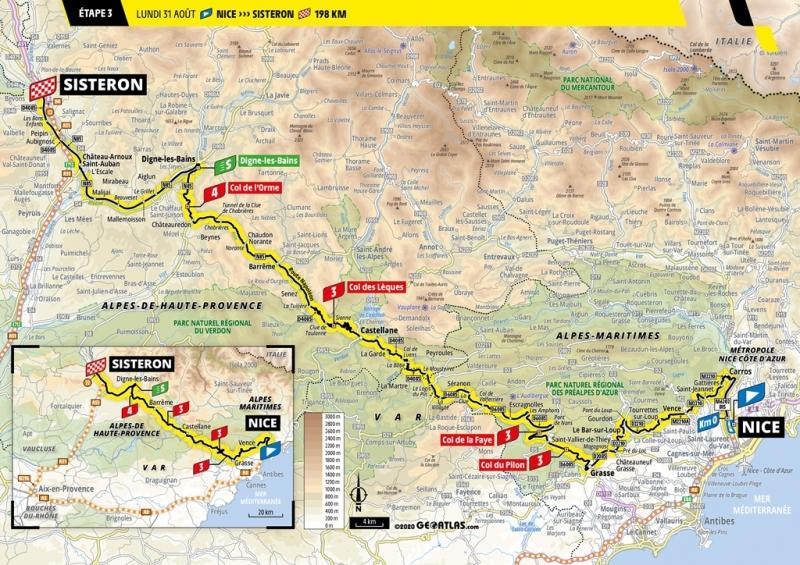 Тур де Франс-2020, превью этапов: 3 этап, Ницца - Систерон