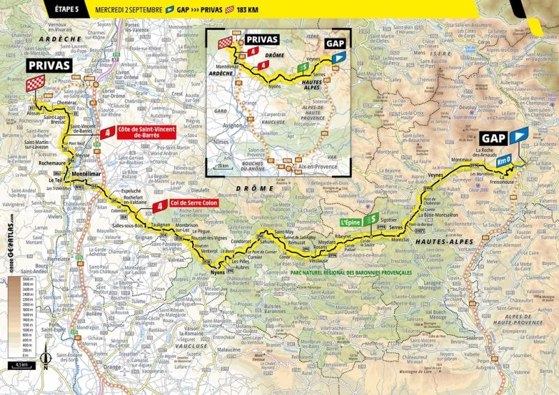 Тур де Франс-2020, превью этапов: 5 этап, Гап - Прива