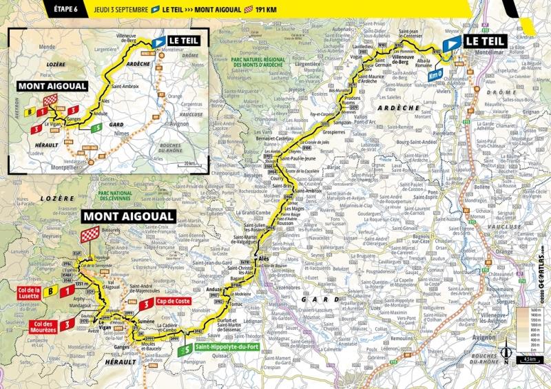 Тур де Франс-2020, превью этапов: 6 этап, Ле Тей - Подъём Эгуаль