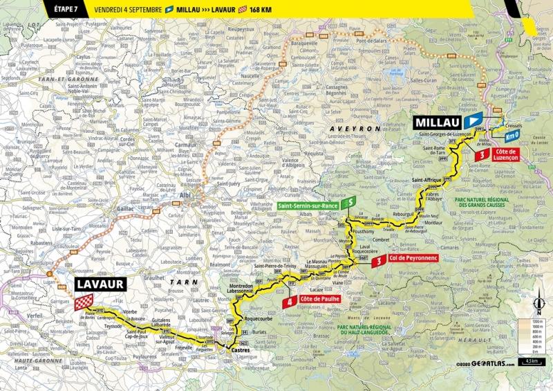 Тур де Франс-2020, превью этапов: 7 этап, Мийо - Лавор