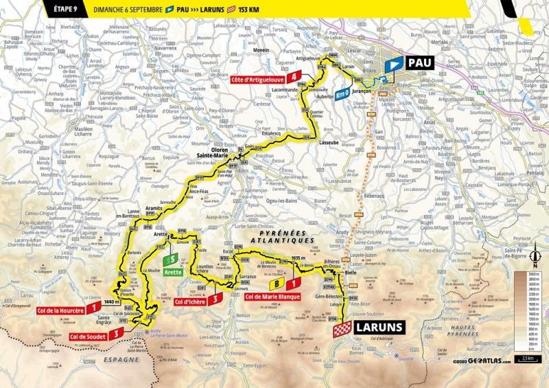 Тур де Франс-2020, превью этапов: 9 этап, По - Ларёнс