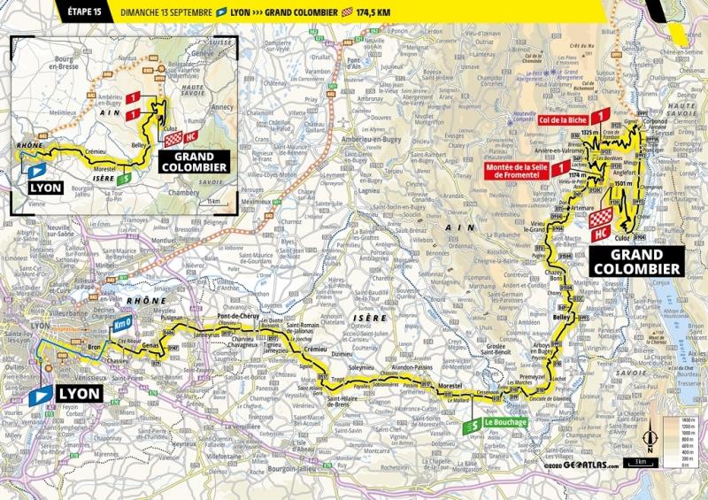 Тур де Франс-2020, превью этапов: 15 этап, Лион - Гран-Коломбье