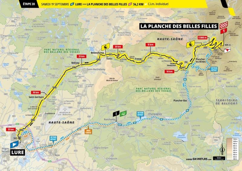 Тур де Франс-2020, превью этапов: 20 этап, Люр - Ла Планш де Бель Фий