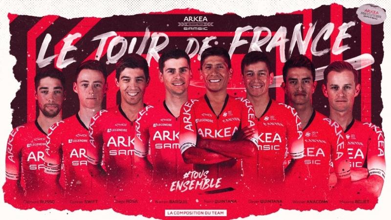 Состав велокоманды Arkea-Samsic на Тур де Франс-2020
