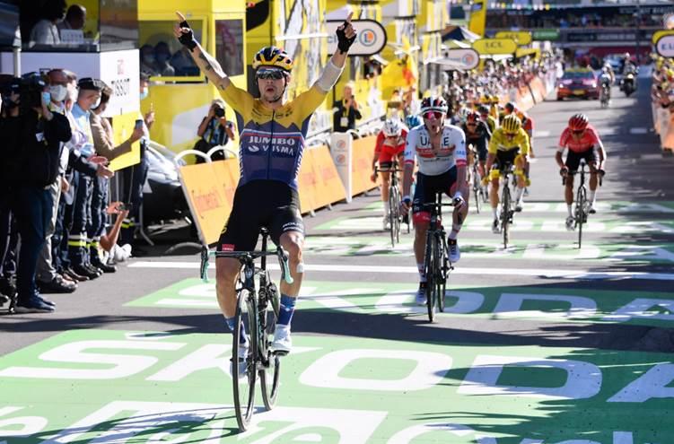 Примож Роглич – победитель 4 этапа Тур де Франс-2020/©A.S.O./Presse Sports / Bernard Papon