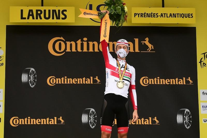 Тадей Погачар побеждает на 9-м этапе, Примож Роглич надевает жёлтую майку лидера Тур де Франс-2020