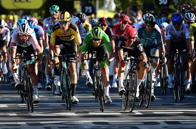Калеб Юэн, Сэм Беннетт, Примож Роглич об 11-м этапе Тур де Франс-2020
