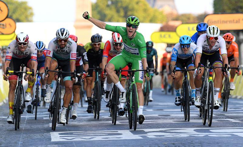 Сэм Беннетт – победа на Елисейских полях и зелёная майка Тур де Франс-2020