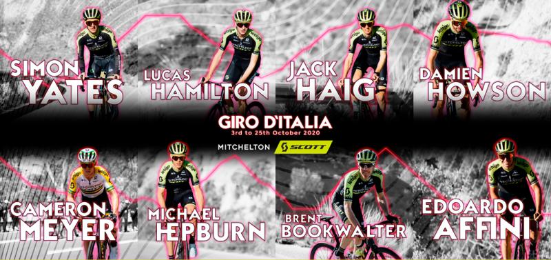 Состав велокоманды Mitchelton-SCOTT на Джиро д'Италия-2020