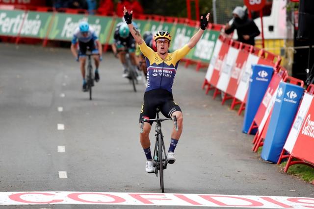 Примож Роглич - победитель 1 этапа Вуэльты Испании-2020