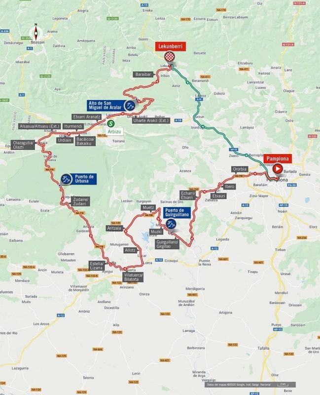 Вуэльта Испании-2020, превью этапов: 2 этап, Памплона - Лекунберри