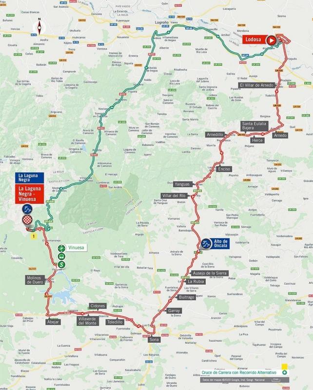 Вуэльта Испании-2020, превью этапов: 3 этап, Лодоса - Лагуна Негра - Винуэса