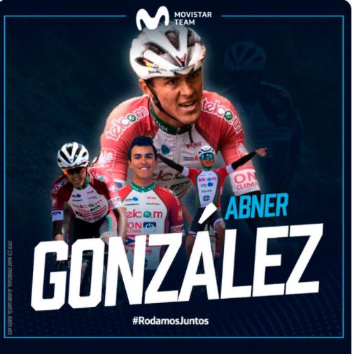 Абнер Гонсалес – новый велогонщик команды Movistar