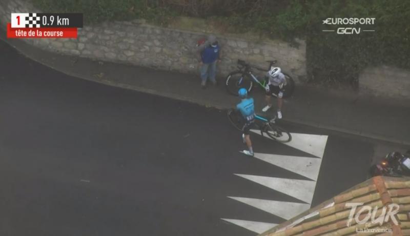 Падения на 2-м этапе Тура Прованса-2021