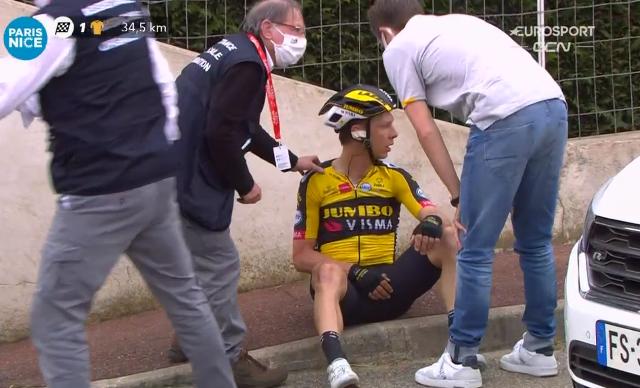 Тони Мартин сошёл с велогонки Париж-Ницца-2021 после падения