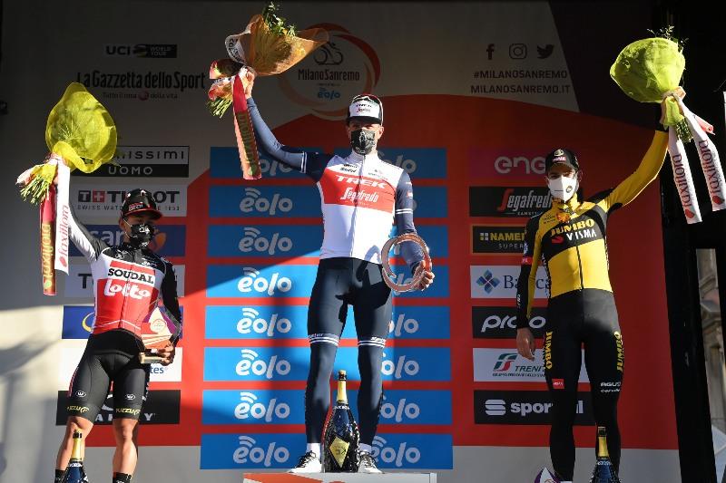 Калеб Юэн и Ваут ван Арт – призёры Милан-Сан-Ремо-2021