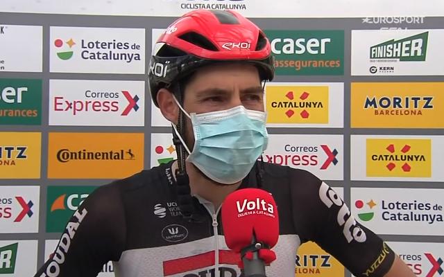 Томас Де Гендт и Матей Мохорич о 7-м этапе Вуэльты Каталонии-2021