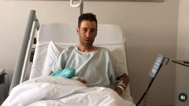 Винченцо Нибали проведена операция на руке