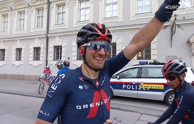 Джанни Москон – победитель 1 этапа Тура Альп-2021
