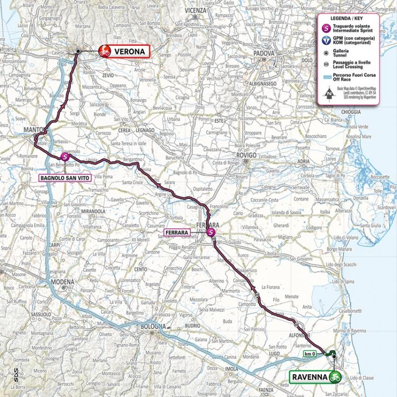 Джиро д'Италия-2021, превью этапов: 13 этап, Равенна - Верона