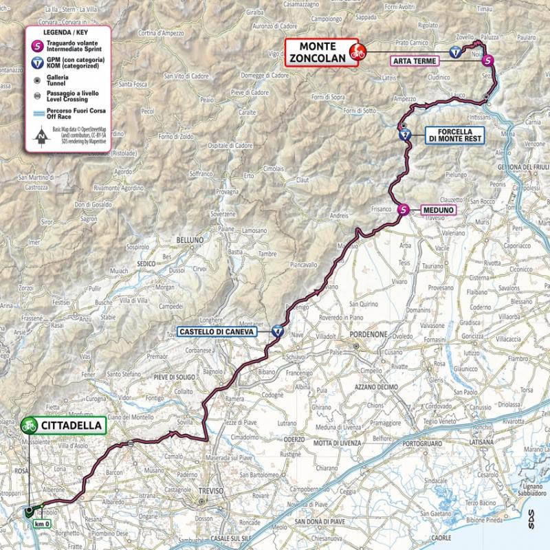 Джиро д'Италия-2021, превью этапов: 14 этап, Читтаделла - Монте Дзонколан