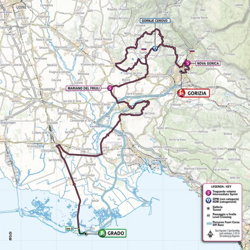 Джиро д'Италия-2021, превью этапов: 15 этап, Градо - Гориция