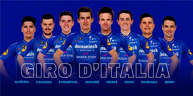 Состав велокоманды Deceuninck-Quick Step на Джиро д'Италия-2021